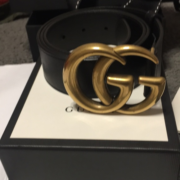 af01a10c524 Gucci Accessories -  Authentic Gucci Leather belt with Double G buckle